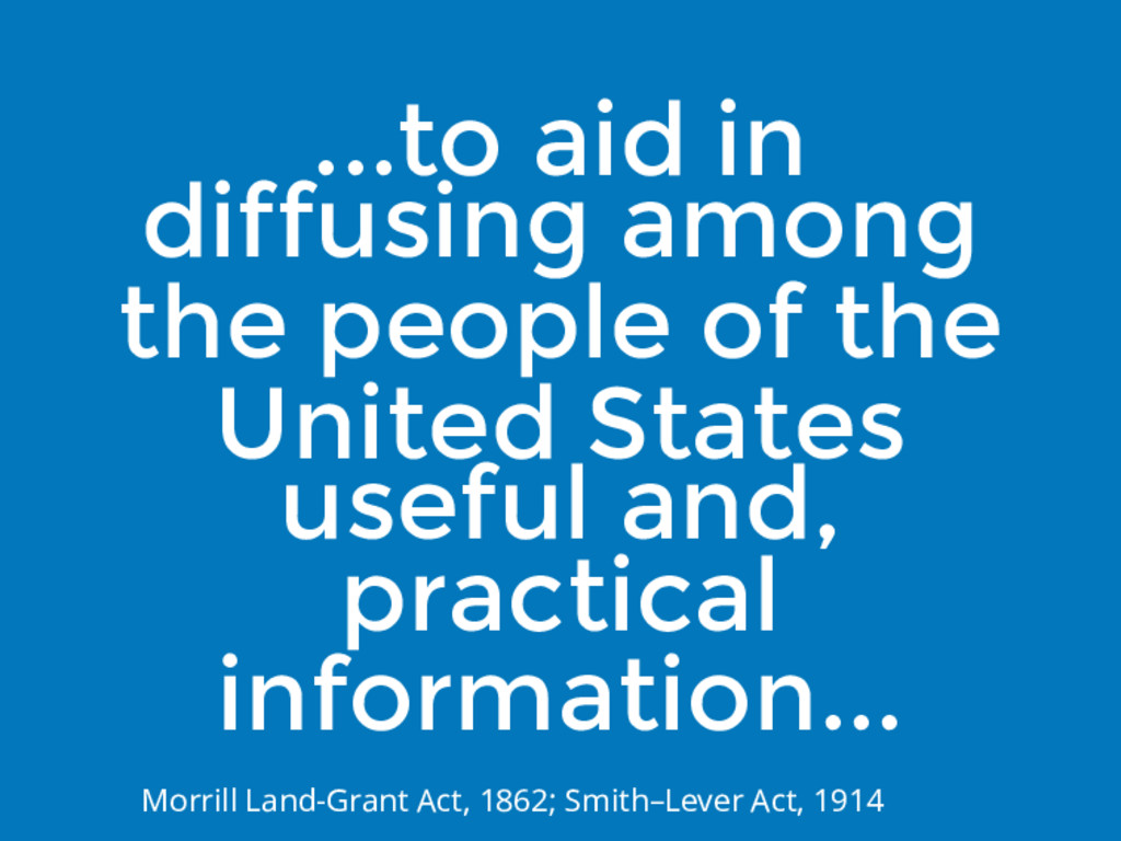 ...to aid in diffusing among the people of the ...