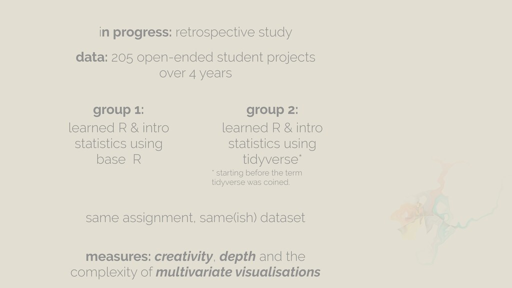 data: 205 open-ended student projects over 4 ye...