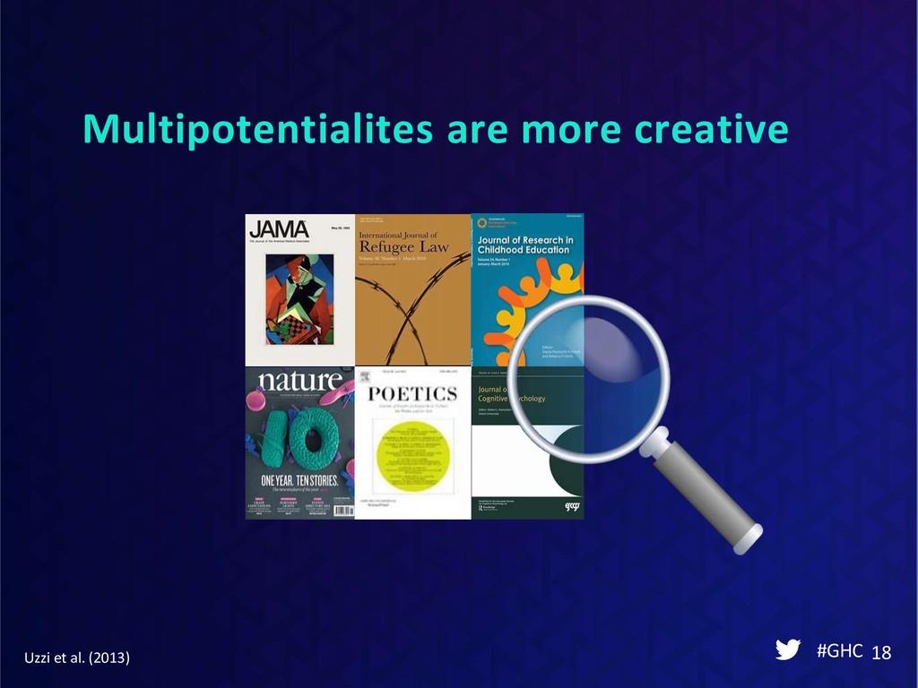 Multipotentialites are more creative #GHC 18 Uz...