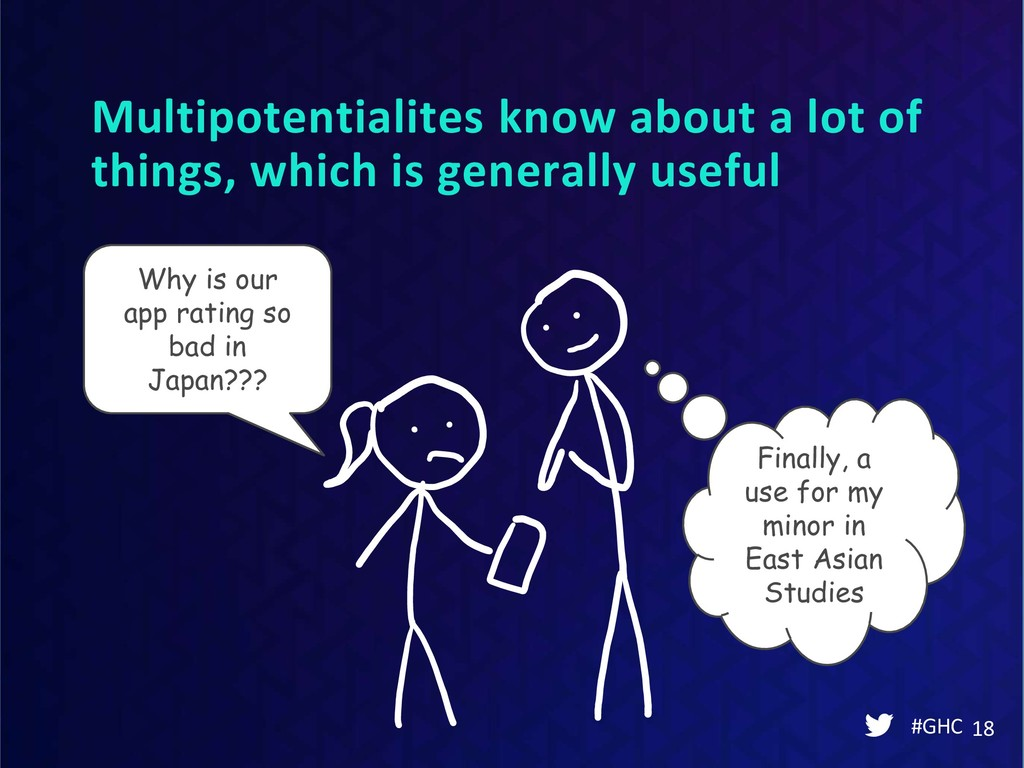 Multipotentialites know about a lot of things, ...
