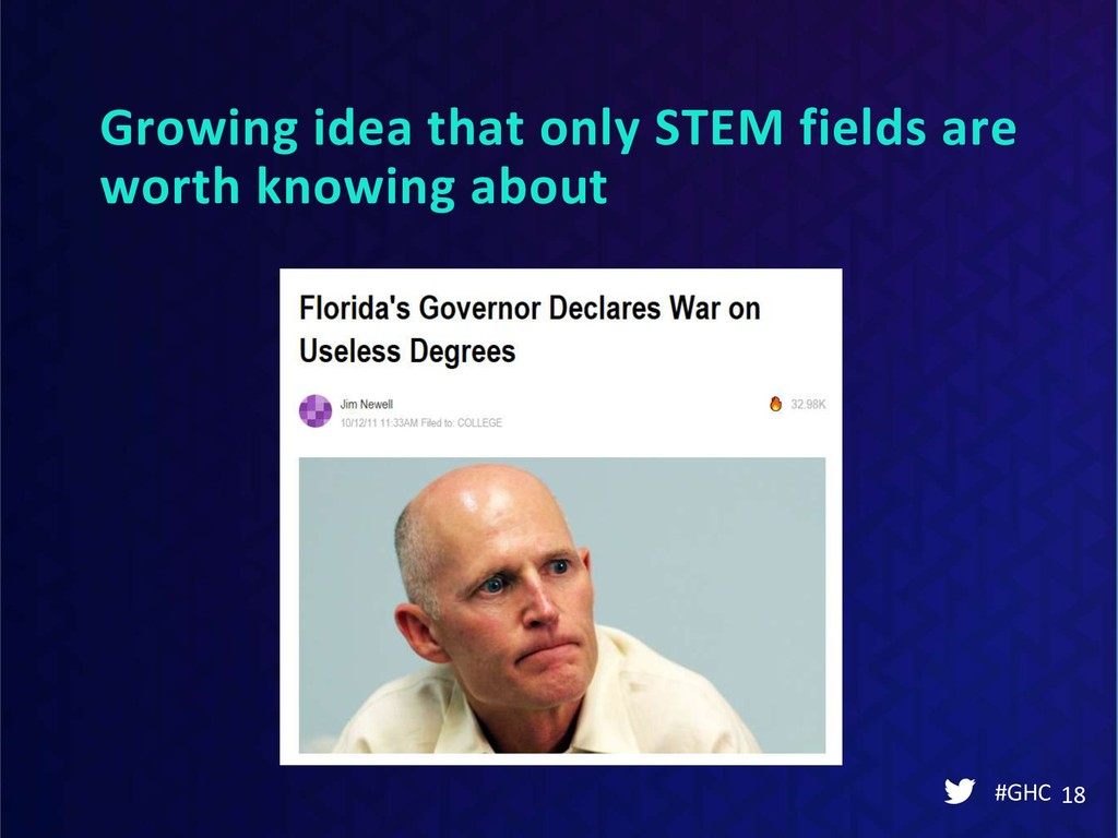 Growing idea that only STEM fields are worth kn...