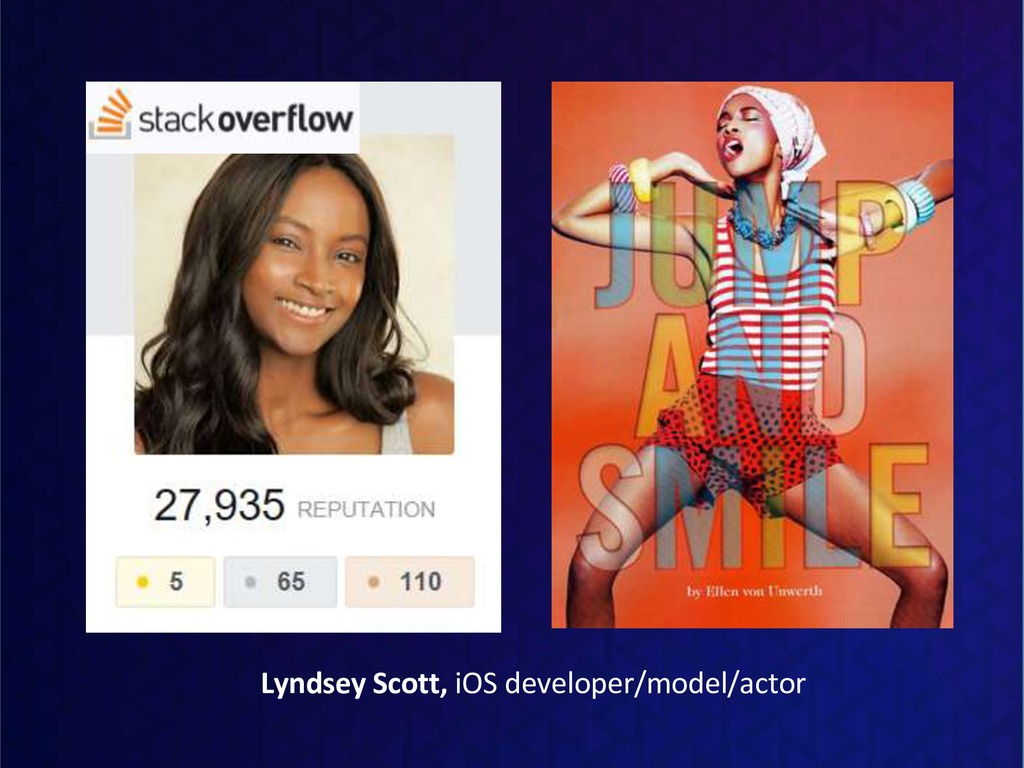 Lyndsey Scott, iOS developer/model/actor
