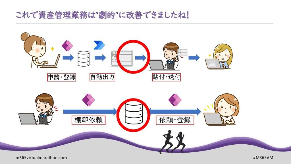 """m365virtualmarathon.com #M365VM これで資産管理業務は""""劇的""""に..."""