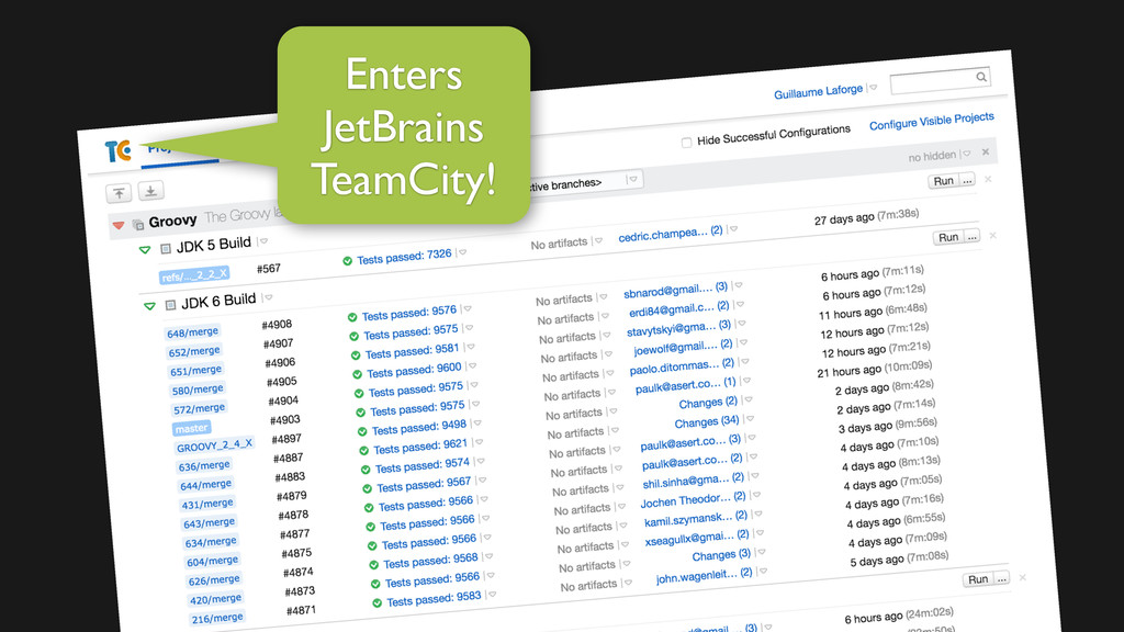Enters JetBrains TeamCity!