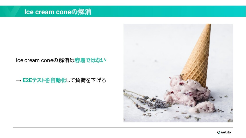 Ice cream coneの解消 Ice cream coneの解消は容易ではない → E2...