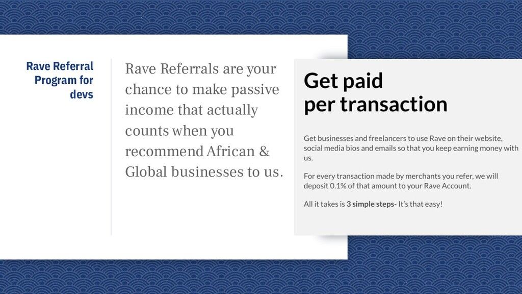 Rave Referral Program for devs Rave Referrals a...