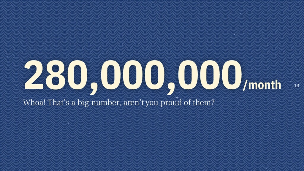 280,000,000/month Whoa! That's a big number, ar...