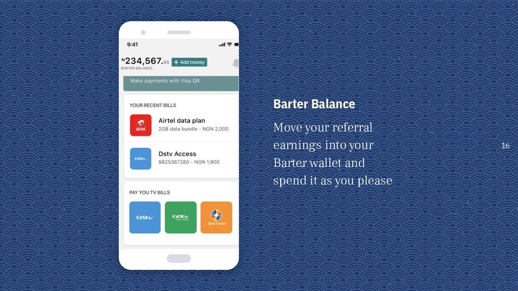 Barter Balance Move your referral earnings into...