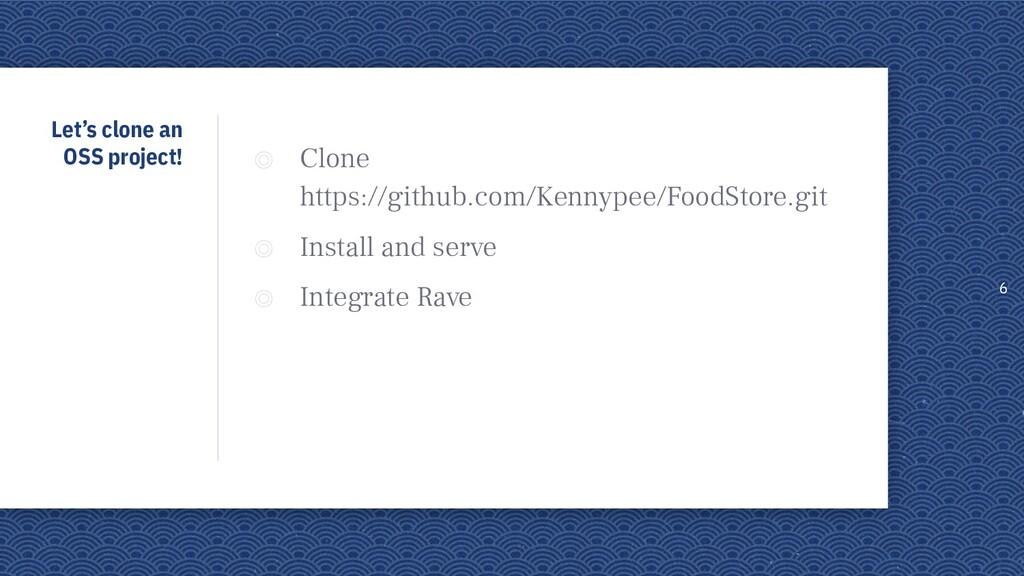 Let's clone an OSS project! ◎ Clone https://git...