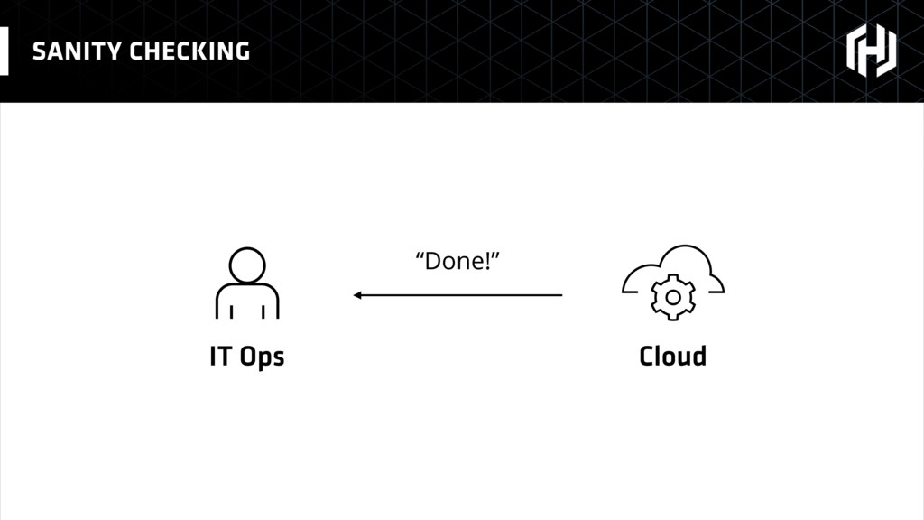 "SANITY CHECKING IT Ops Cloud ""Done!"""