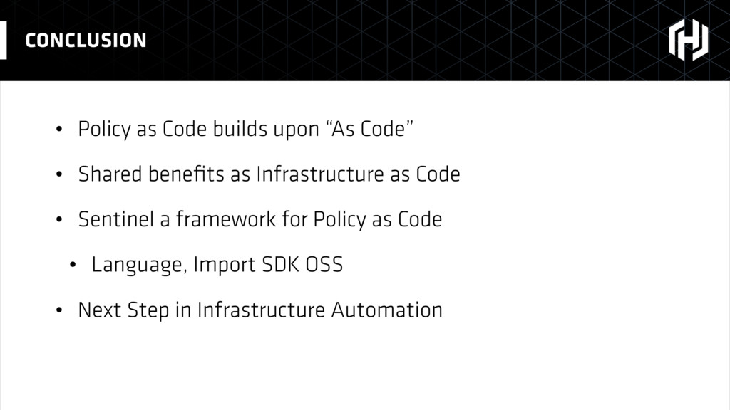 "• Policy as Code builds upon ""As Code"" • Shared..."