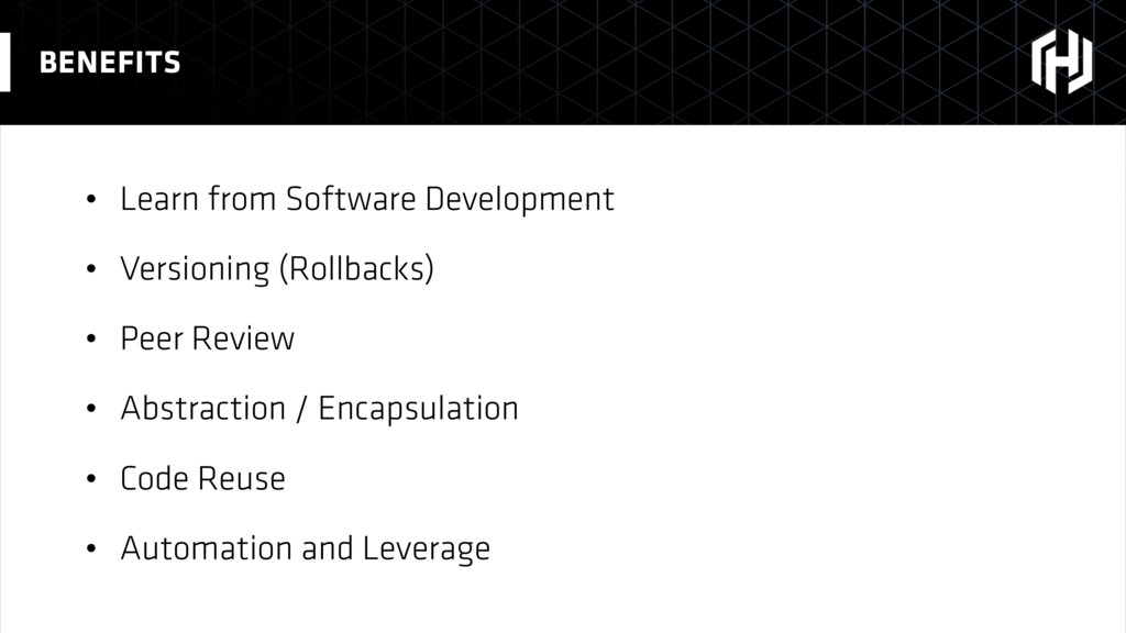 • Learn from Software Development • Versioning ...