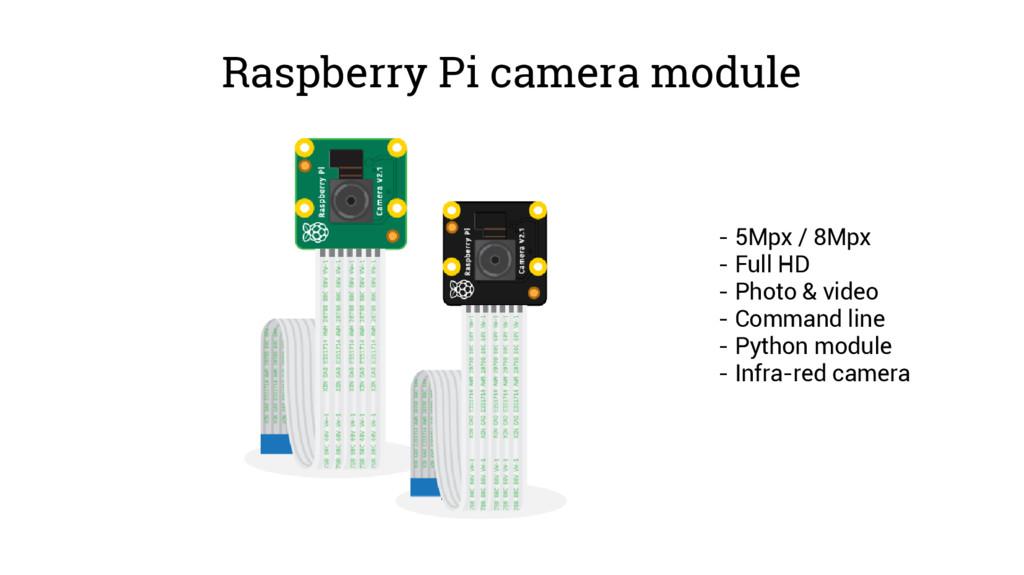 Raspberry Pi camera module - 5Mpx / 8Mpx - Full...