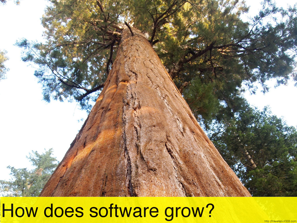 How does software grow? http://travelspirit333....