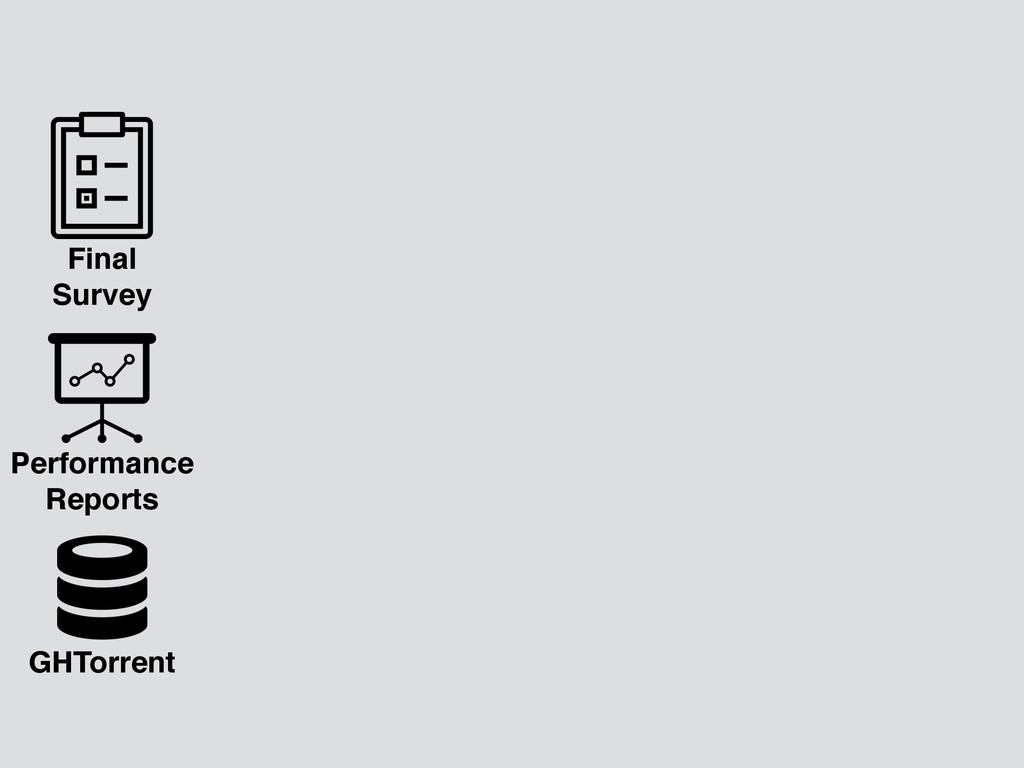 GHTorrent Final Survey Performance Reports