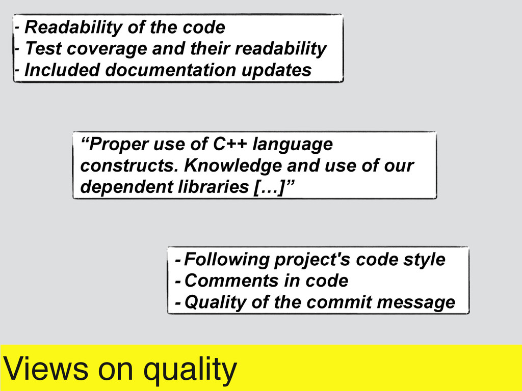 - Following project's code style - Comments in ...