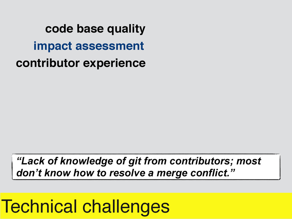 Technical challenges impact assessment contribu...