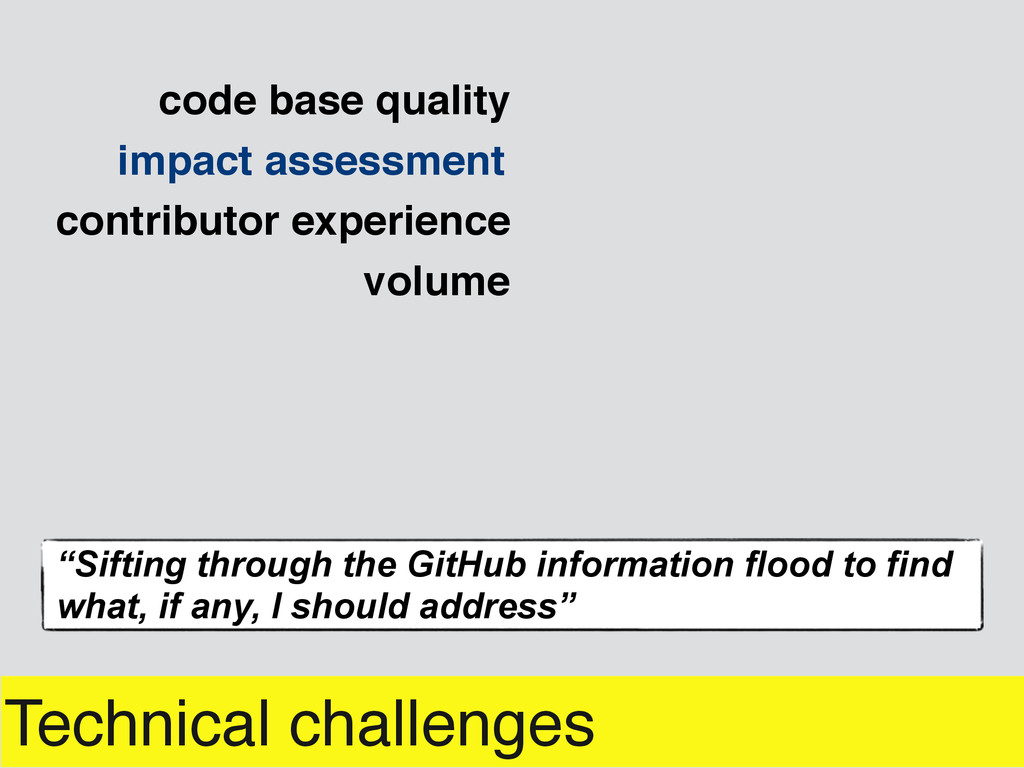 """Technical challenges impact assessment """"Sifting..."""