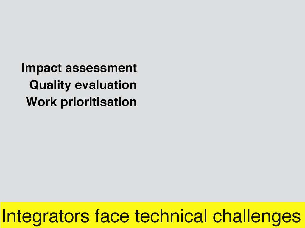 Integrators face technical challenges Impact as...