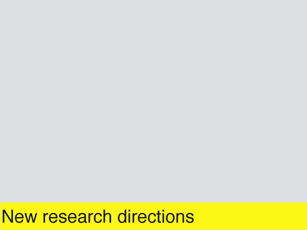 New research directions
