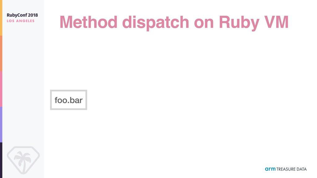Method dispatch on Ruby VM foo.bar