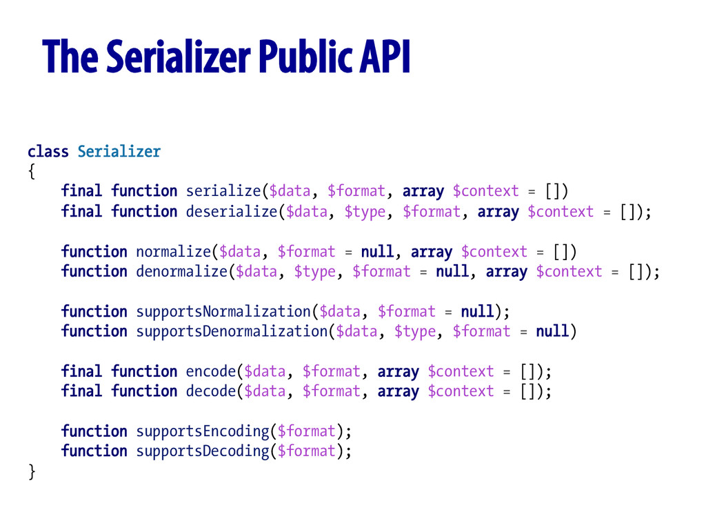 class Serializer { final function serialize($da...