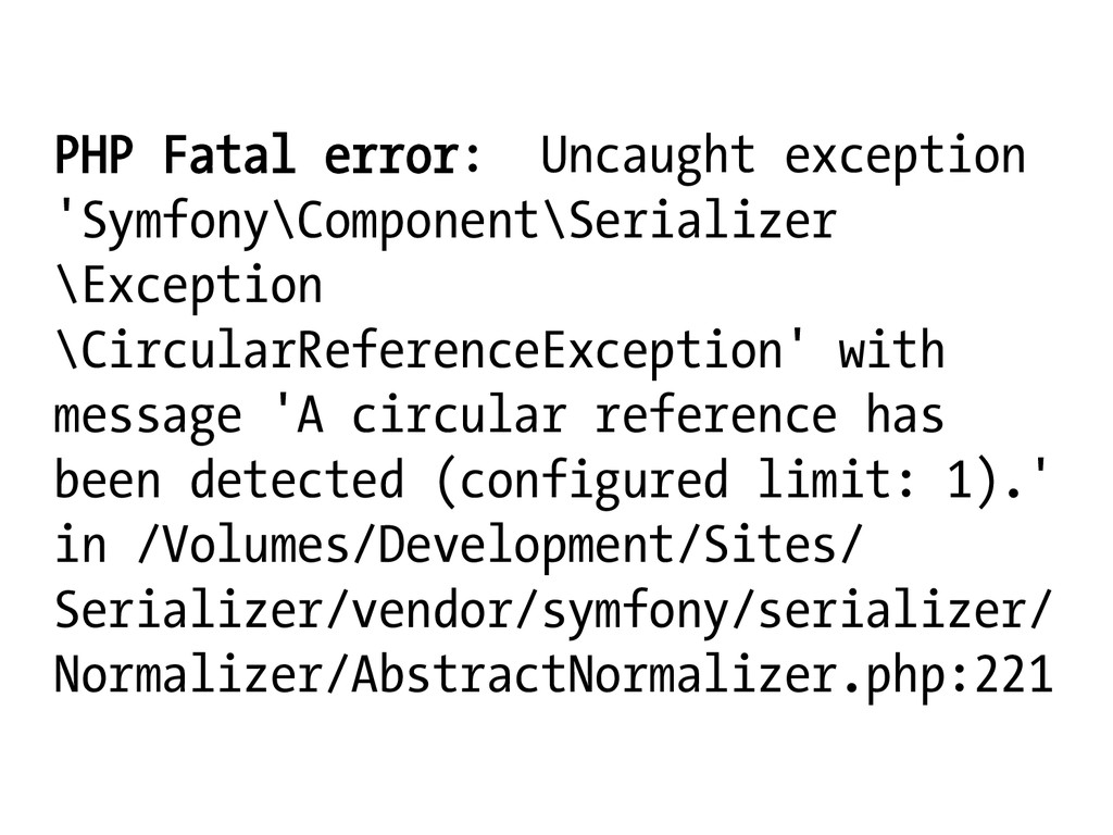 PHP Fatal error: Uncaught exception 'Symfony\Co...