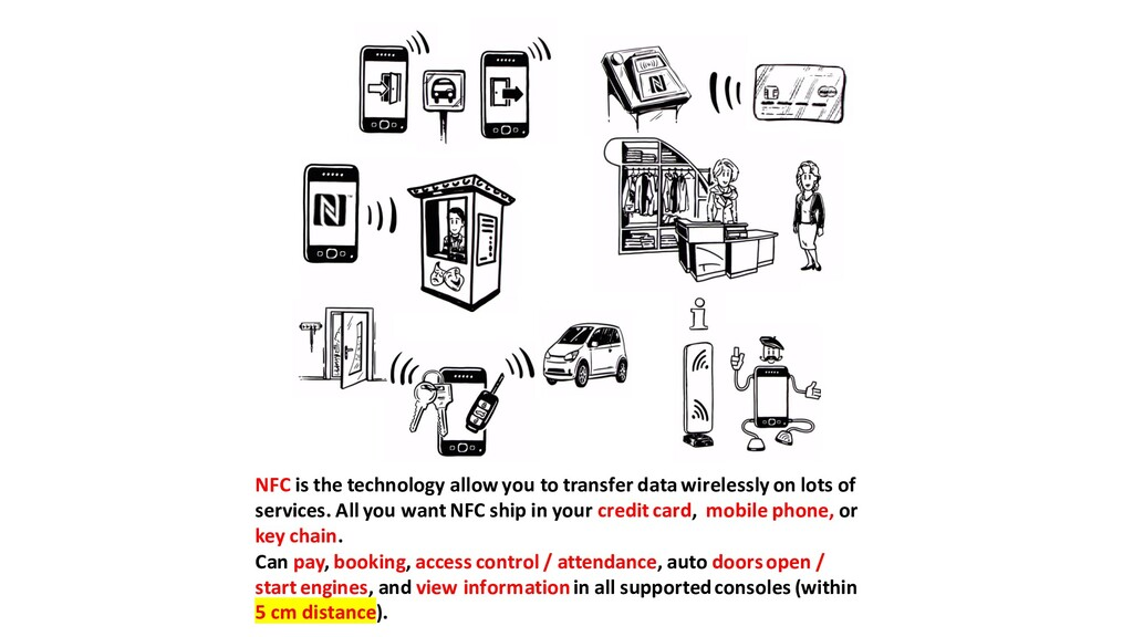 NFC is the technology allow you to transfer dat...