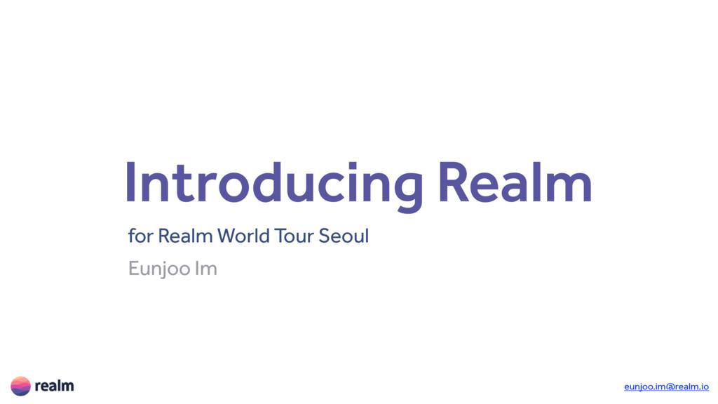 Introducing Realm for Realm World Tour Seoul Eu...