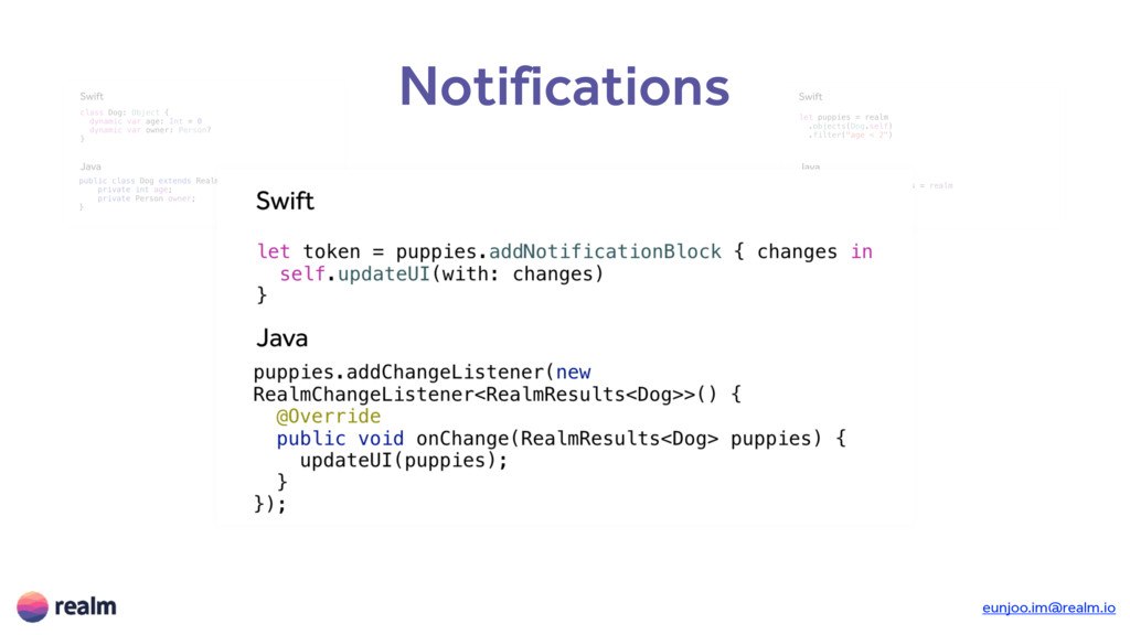 Notifications Objects Queries Notifications Tra...