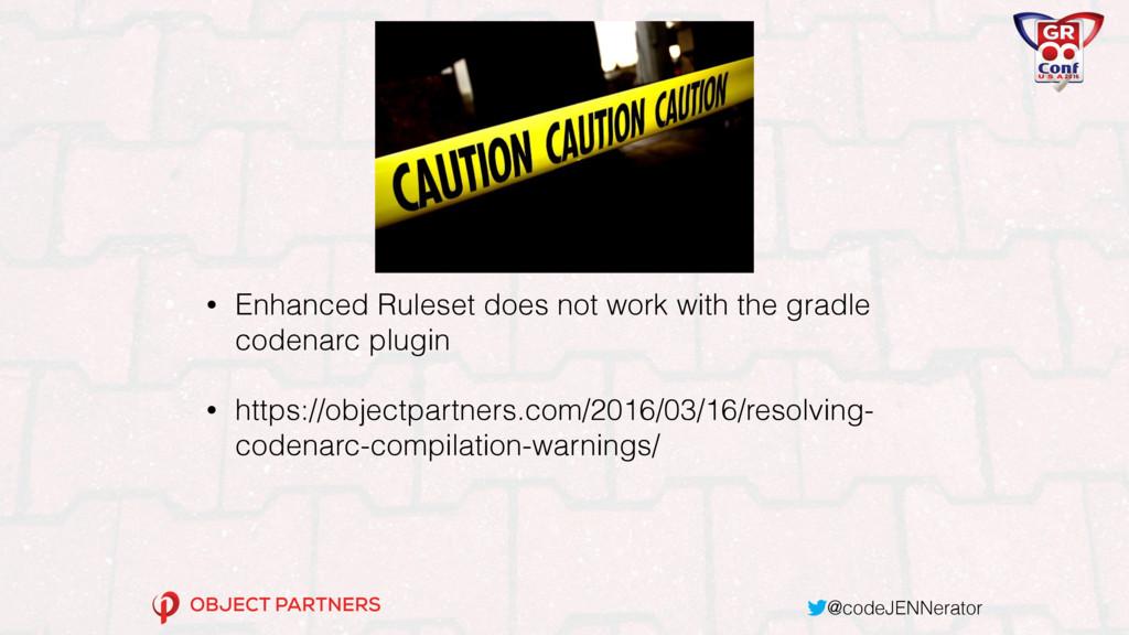 @codeJENNerator WARNING! • Enhanced Ruleset doe...