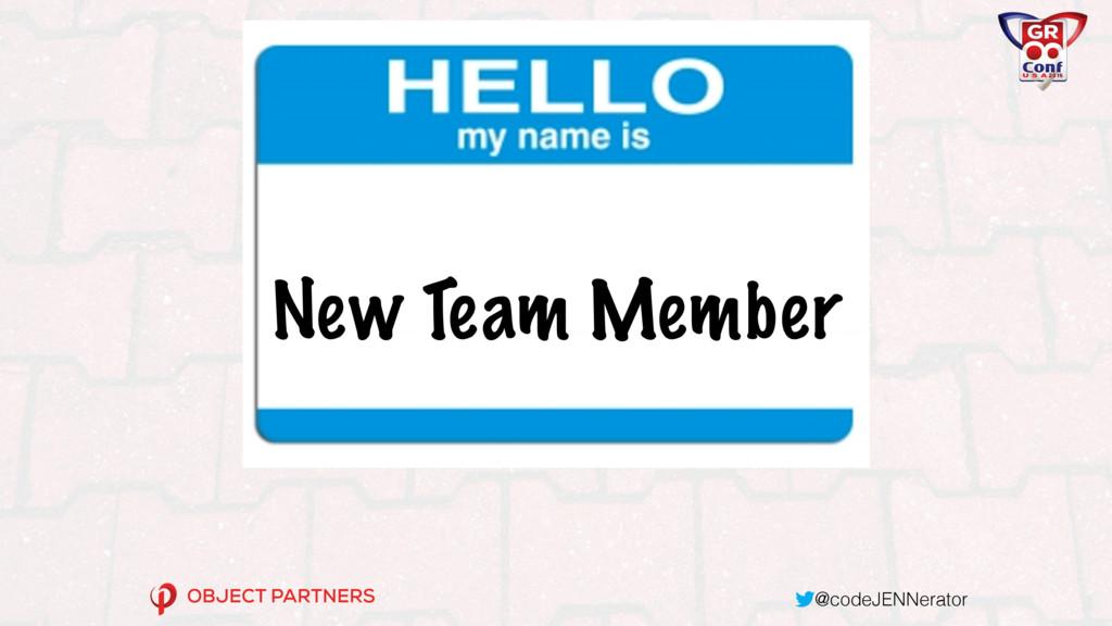 @codeJENNerator New Team Member