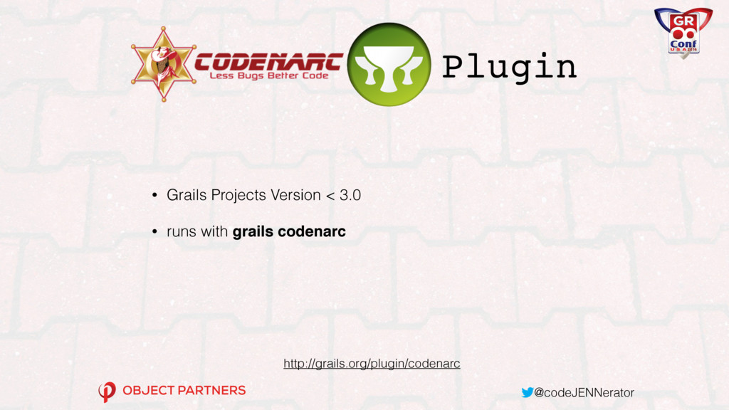 @codeJENNerator • Grails Projects Version < 3.0...
