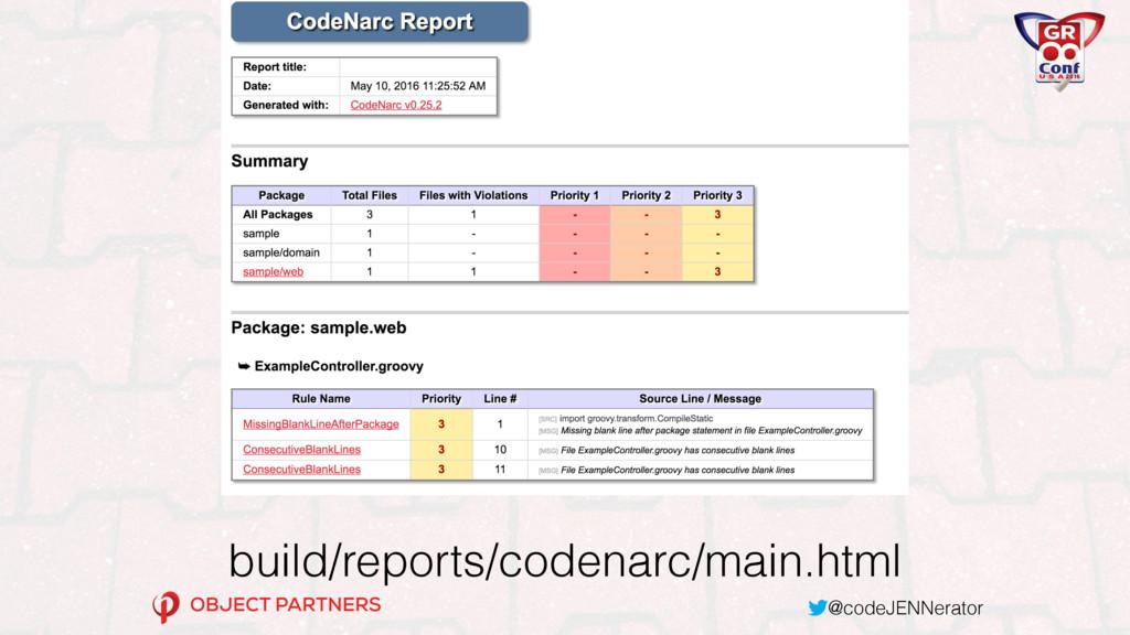 @codeJENNerator build/reports/codenarc/main.html