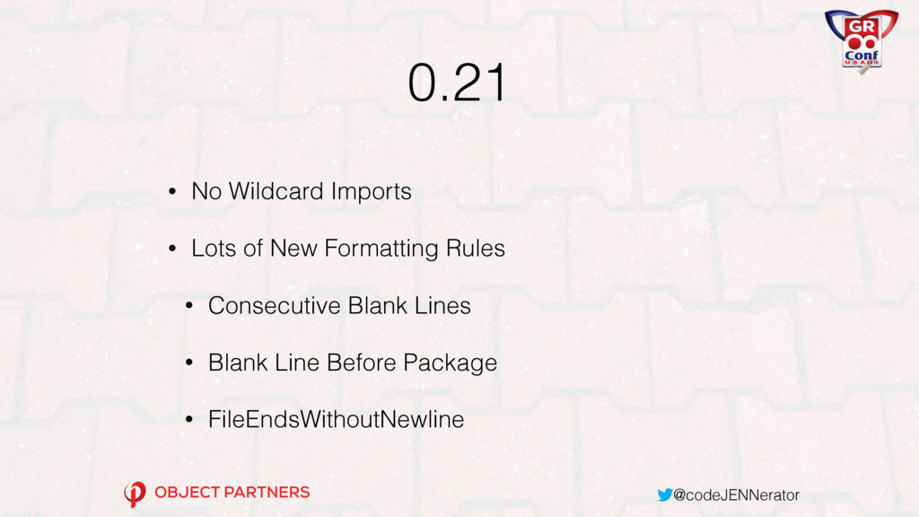 @codeJENNerator 0.21 • No Wildcard Imports • Lo...