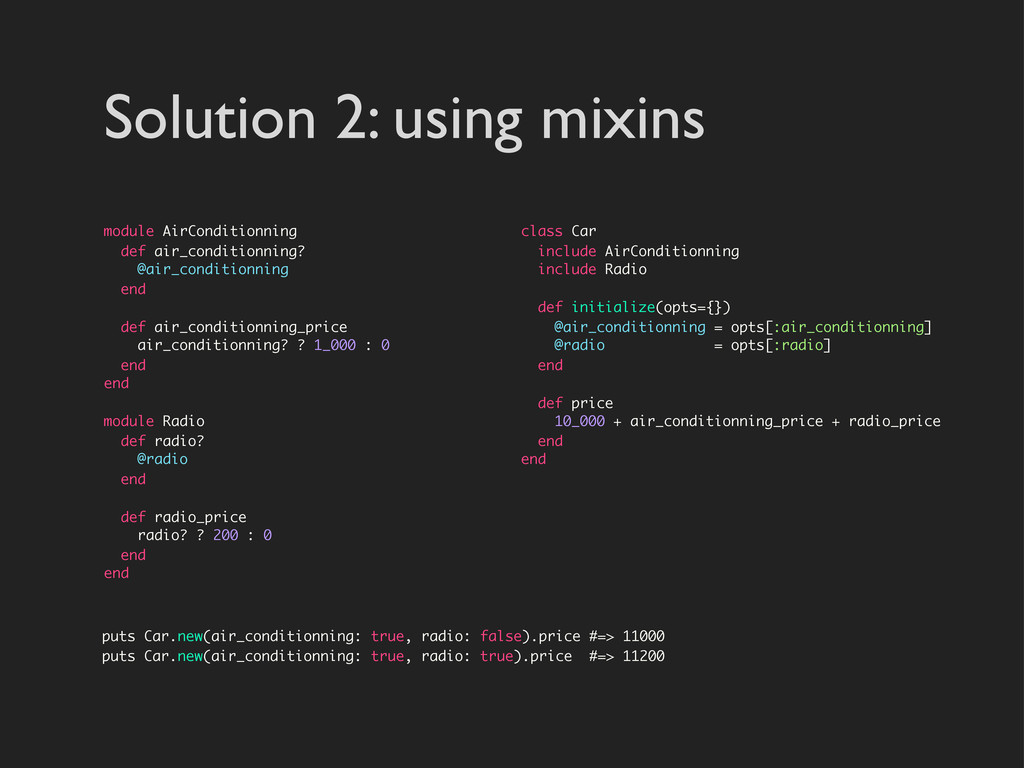 Solution 2: using mixins module AirConditionnin...