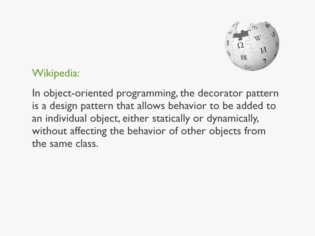 Wikipedia: In object-oriented programming, the ...