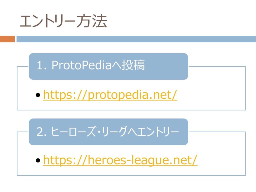 エントリー方法 • https://protopedia.net/ 1. ProtoPedia...
