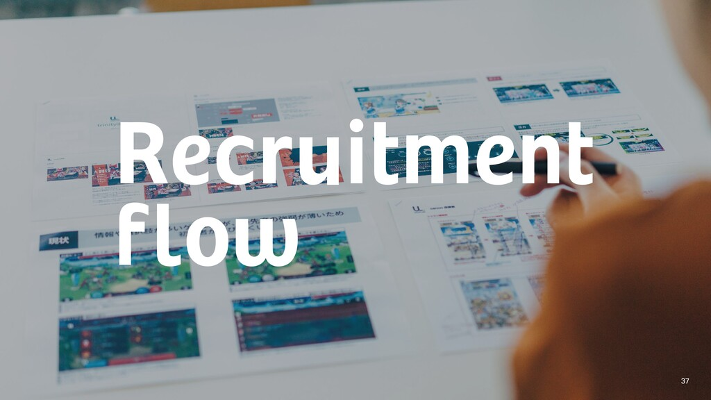 Recruitment flow 37
