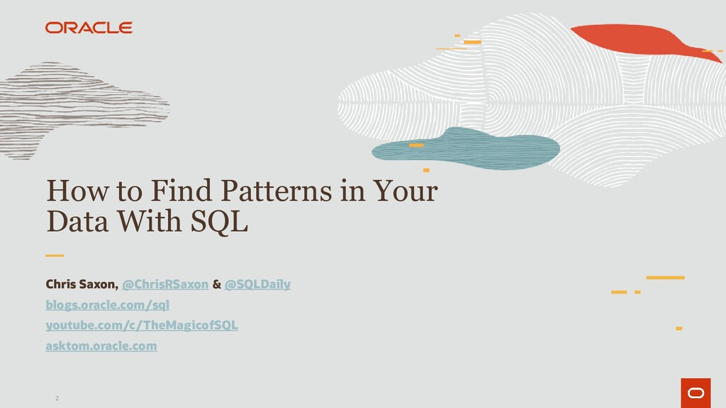 2 How to Find Patterns in Your Data With SQL Ch...