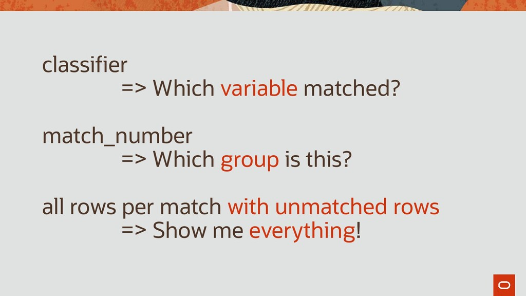 classifier => Which variable matched? match_num...