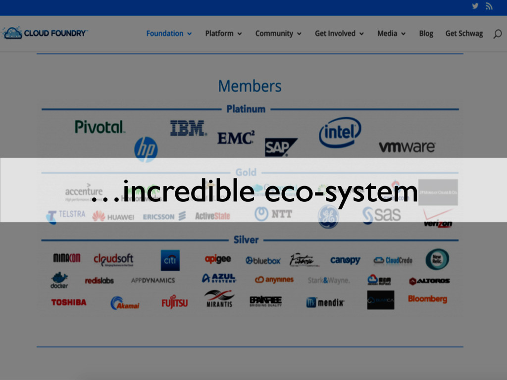 …incredible eco-system