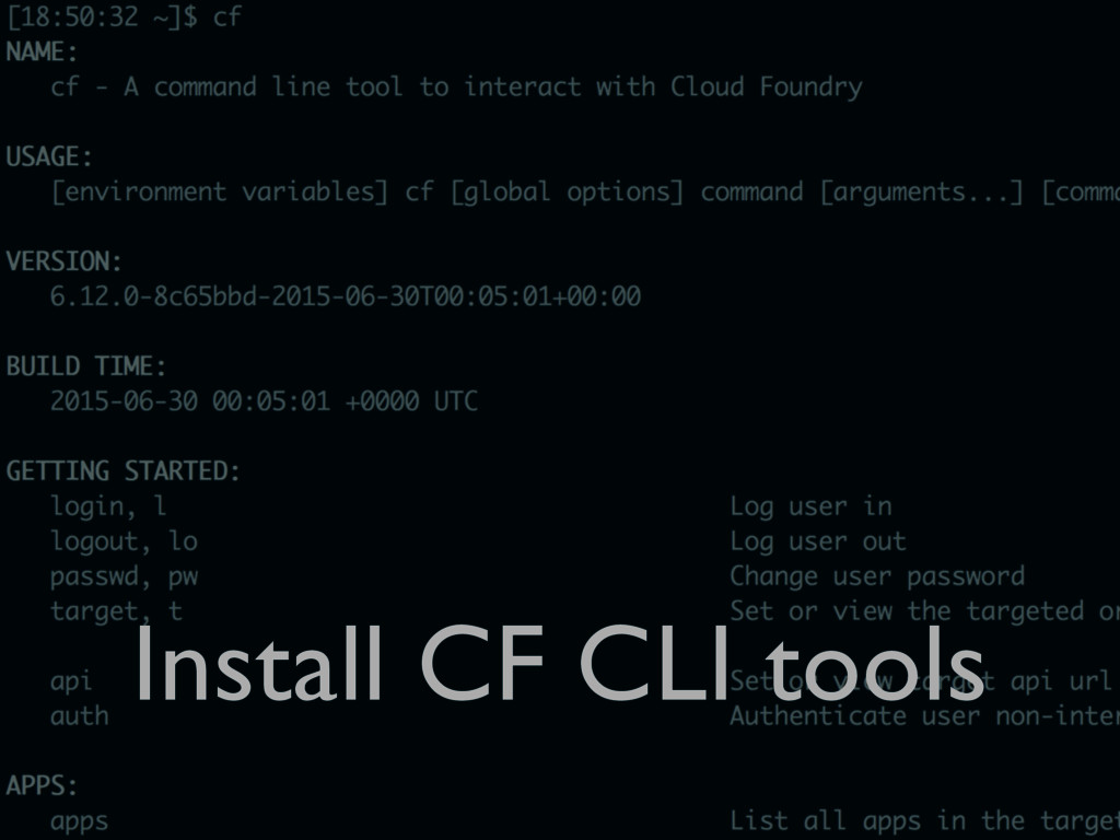 Install CF CLI tools