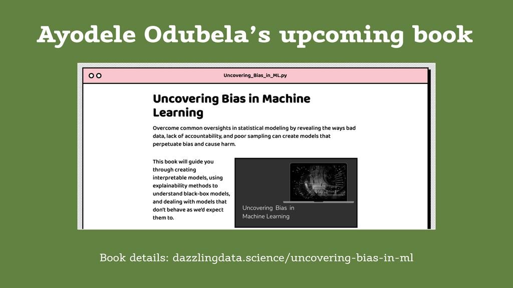 Ayodele Odubela's upcoming book Book details: d...