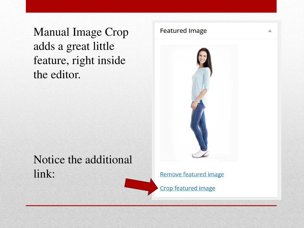 Manual Image Crop adds a great little feature, ...