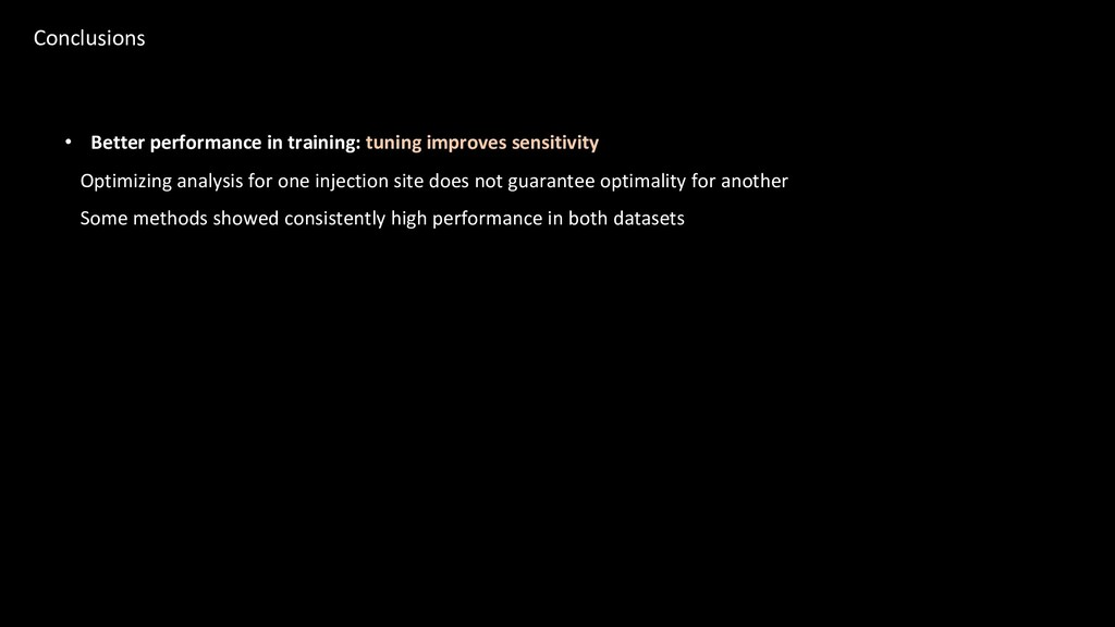 • Better performance in training: tuning improv...
