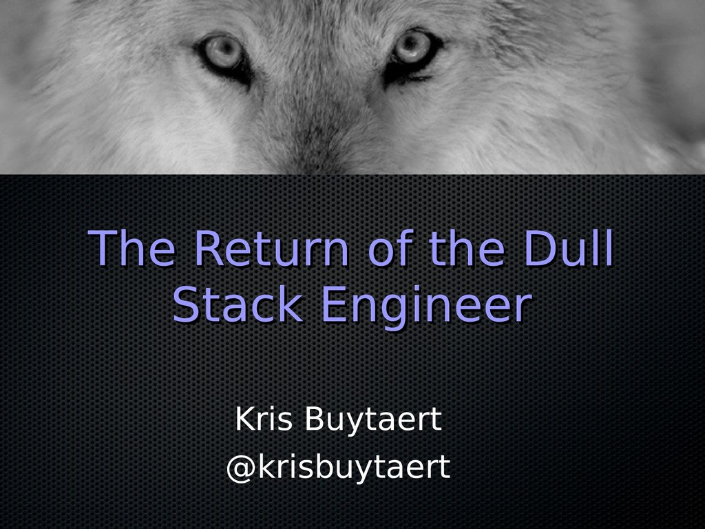 The Return of the Dull The Return of the Dull S...