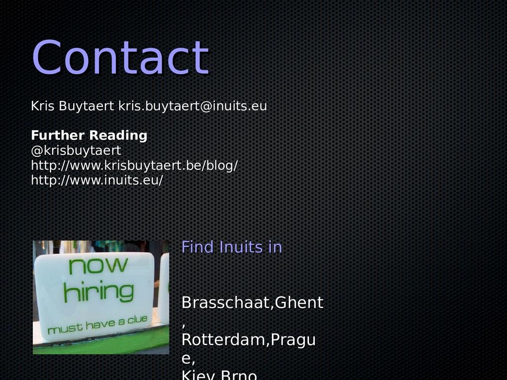 Contact Contact Kris Buytaert kris.buytaert@inu...