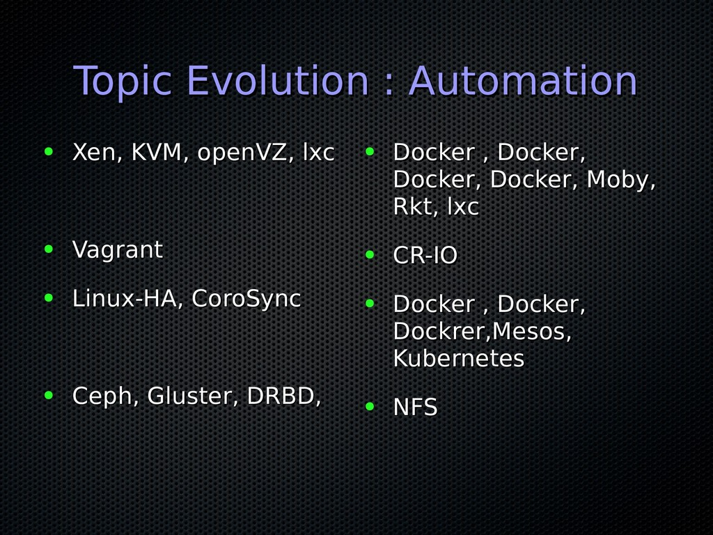 Topic Evolution : Automation Topic Evolution : ...