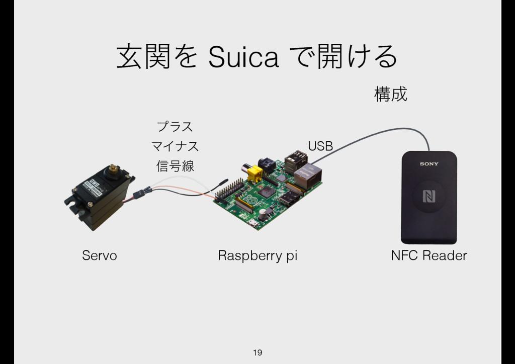 ݰؔΛ Suica Ͱ։͚Δ ߏ Raspberry pi ϓϥε ϚΠφε ৴߸ઢ USB...